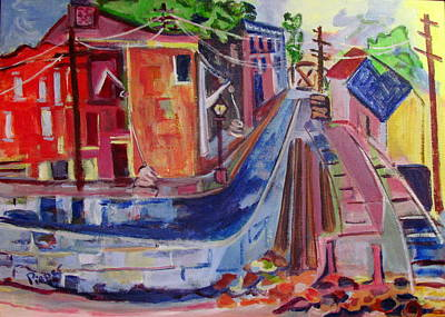 Mental Painting - Railroad And Canal 1840 by Betty Pieper