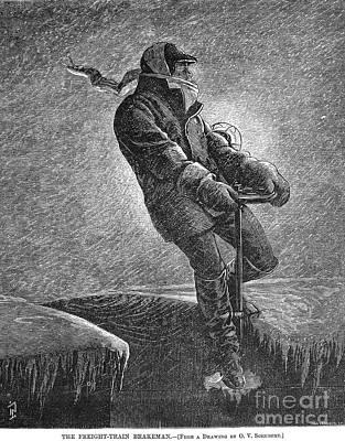 Brakeman Photograph - Railroad: Brakeman, 1877 by Granger