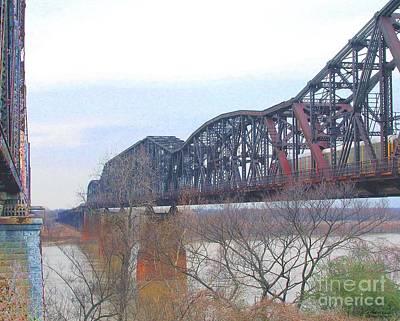 Digital Art - Railroad Bridge  by Lizi Beard-Ward