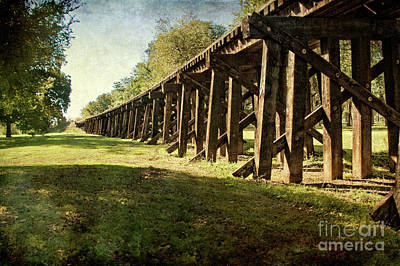 Photograph - Railroad Bridge by Tamyra Ayles