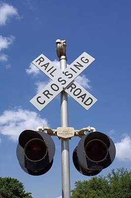 Photograph - Railroad Crossing by Lynnette Johns