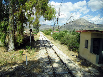 Photograph - Railroad Crossing On The Way From Mycenae To Olympia In Greece by John Shiron