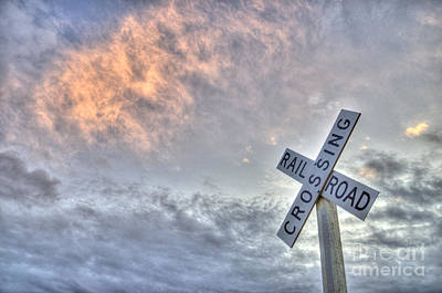 Photograph - Railroad Crossing Sign by Jim And Emily Bush