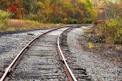 Railroad Fall Color Art Print by Thomas R Fletcher