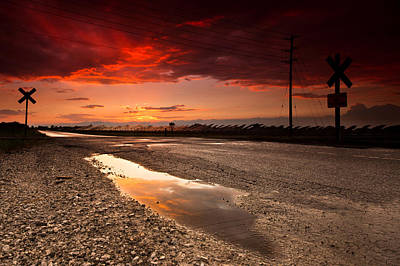 Train Tracks Photograph - Railroad Reflection by Cale Best