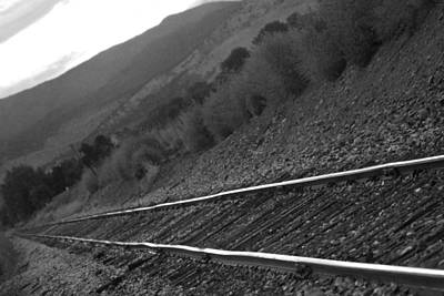 Photograph - Railroad Tracks Down The Line Black And White by James BO Insogna