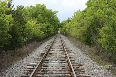 Photograph - Railroad Tracks by Jerry Bunger