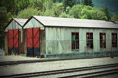 Railroad Woodshed 2 Art Print by Holly Blunkall