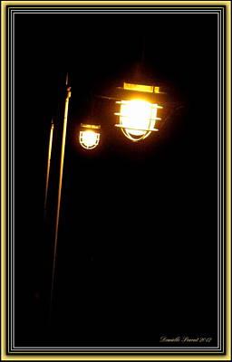 Reflexions Digital Art - Railway Antique Lanterns by Danielle  Parent