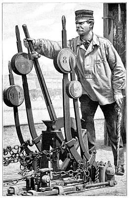 Signalman Photograph - Railway Signalman, 19th Century by