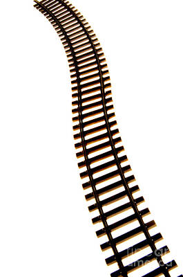 Railway Tracks Art Print by Bernard Jaubert