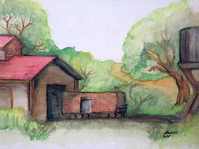 Railyard Art Print by Timothy Hawkins
