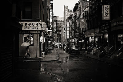 Cinematic Photograph - Rain - Pell Street - New York City by Vivienne Gucwa