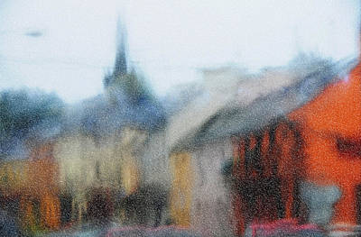 Photograph - Rain. Carrick On Shannon. Impressionism by Jenny Rainbow
