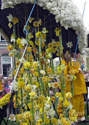 Comic Character Paintings - Rain. Flower Parade. Blumencorso Holland 2011 by Ausra Huntington nee Paulauskaite