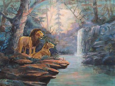 Rain Forest Waterfall Art Print