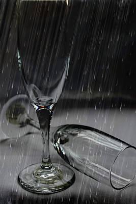Rain Glasses Art Print by Sarah Broadmeadow-Thomas