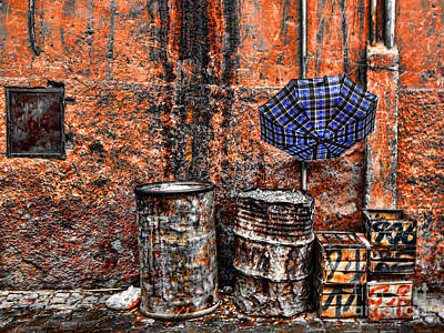 Rain In Marrakesh Art Print by Chuck Kuhn