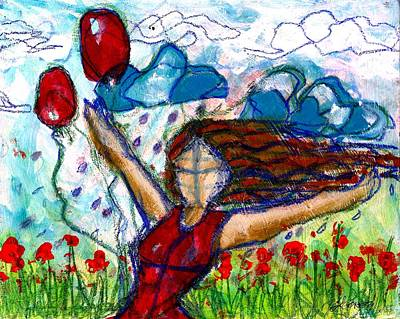 Baloon Painting - Rain Of Mine By Laura Gomez by Laura  Gomez