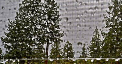 Photograph - Rain On My Windowpane by Kirsten Giving