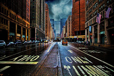 Photograph - Rain On Park Avenue by Chris Lord