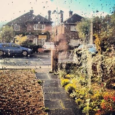 Raindrops Photograph - #rain #weather #raindrops #cambridge by Abdelrahman Alawwad