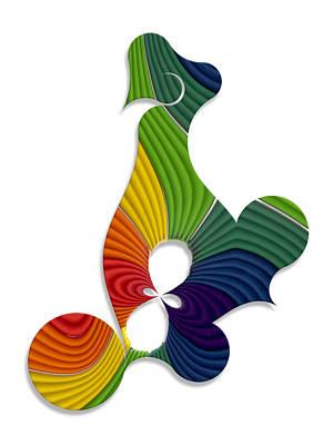 Rainbow Abstraction From Plasticine Art Print