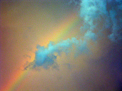 Photograph - Rainbow And The Cloud by Christy Usilton