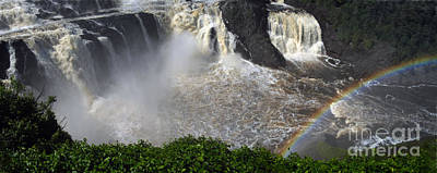 Art Print featuring the photograph Rainbow And The Waterfall by Vilas Malankar