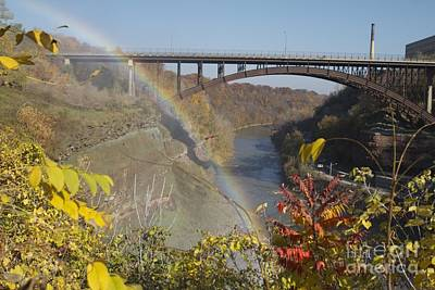 Art Print featuring the photograph Rainbow At Lower Falls by William Norton
