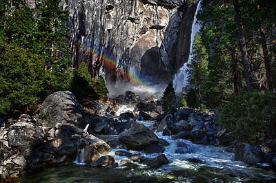 Photograph - Rainbow At Yosemite Falls by Rick Berk