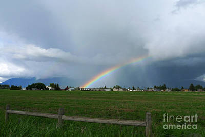 Art Print featuring the photograph Rainbow Before The Storm by Nina Prommer