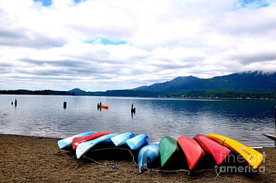 Northwest Photograph - Rainbow Boats by Tanya  Searcy