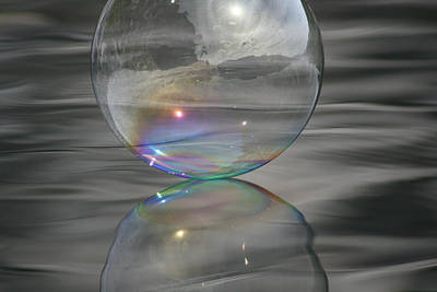 Photograph - Rainbow Bubble Connection by Cathie Douglas