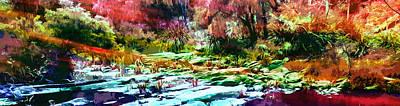 Rainbow Bushfire Art Print