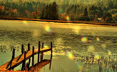 Photograph - Rainbow Dock by Emily Stauring
