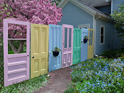 Art Print featuring the photograph Rainbow Doors by Judy  Johnson