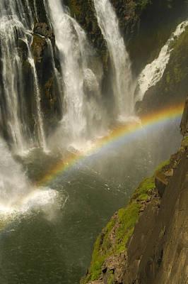 Earth Shapes Photograph - Rainbow Falls by Alistair Lyne