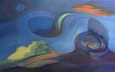 Surrealistic Painting - Rainbow by Fernando Alvarez