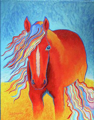 Rainbow Fire Original by Jodi Bauter