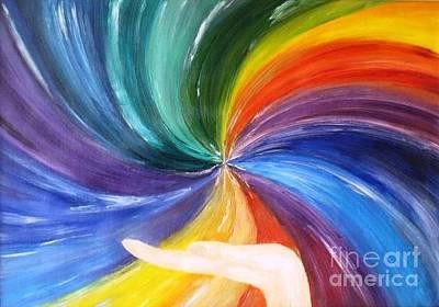 Rainbow For My Son Art Print by AmaS Art