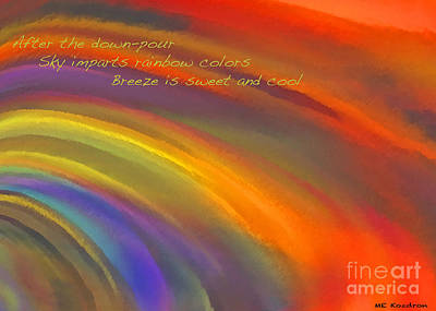 Digital Art - Rainbow Haiku by ME Kozdron