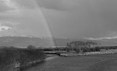 Photograph - Rainbow In Black And White by Eric Tressler