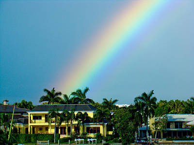Rainbow In Naples Art Print by Dennis Dugan