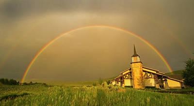Rainbow In Stormy Sky Art Print by Tom Kelly Photo