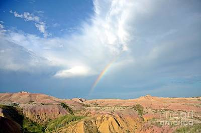 Photograph - Rainbow In The Badlands by Cassie Marie Photography