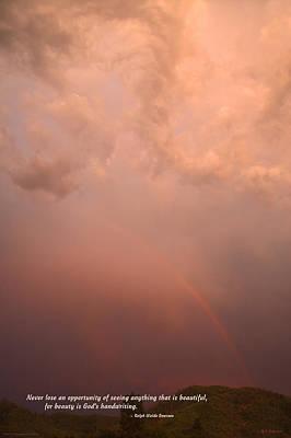 Rainbow In The Storm Art Print