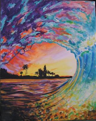 Rainbow Jawz Wave Art Print by Anne Provost