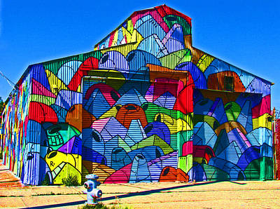 Photograph - Rainbow Jug Building by Samuel Sheats