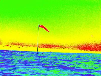 Digital Art - Rainbow Kaimana Flag by Erika Swartzkopf